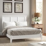 Troutville Solid Wood Low Profile Panel Bed by Three Posts