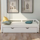 Fennell Twin Solid Wood Daybed with Trundle by Longshore Tides