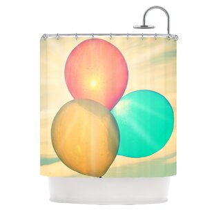 Balloons Single Shower Curtain