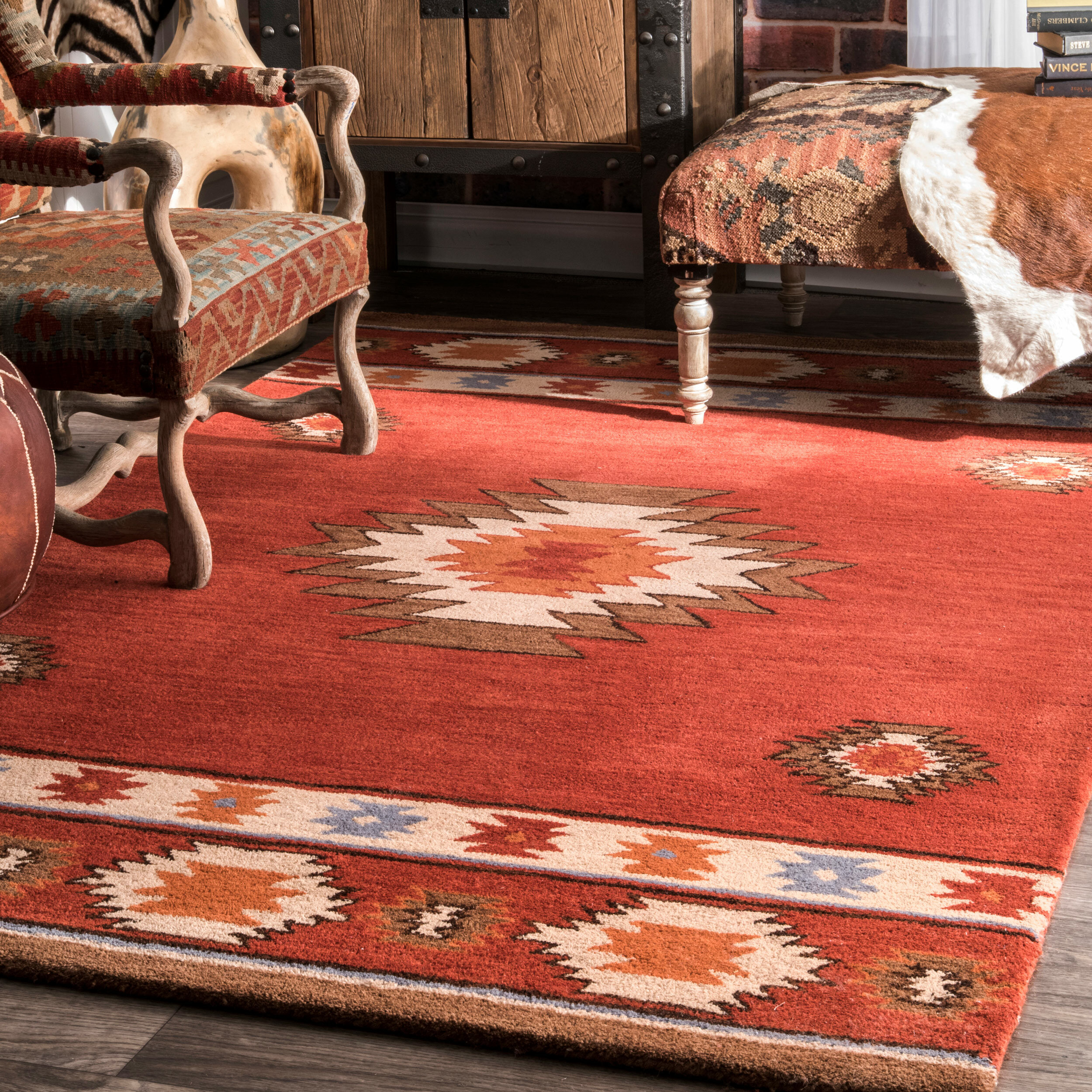 Handmade Tufted Wool Area Rug