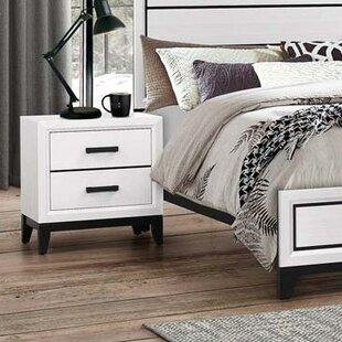 Ebern Designs Wallis 2 Drawer Nightstand