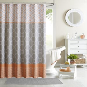 Elegant Clara Microfiber Shower Curtain Intended For Orange Shower Curtain