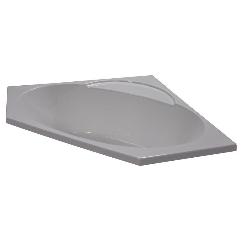 American Acrylic X Soaker Corner Bathtub Reviews Wayfair - 4x4 bathtub
