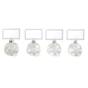 snowflakes and place card holder shaped ornament set of 4