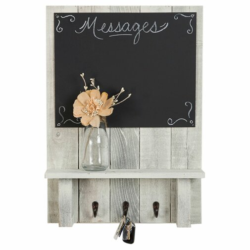 Maison Display Shelf Wall Key Organizer with Chalkboard