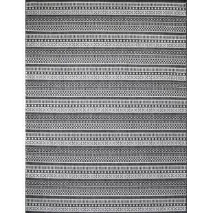 Starks Stripe Gray Indoor/Outdoor Area Rug