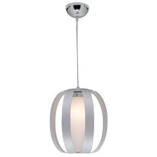 Orren Ellis Rosewood 1-Light Globe Pendant