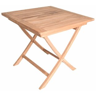 August Grove Octavius Square Folding Teak Dining Table