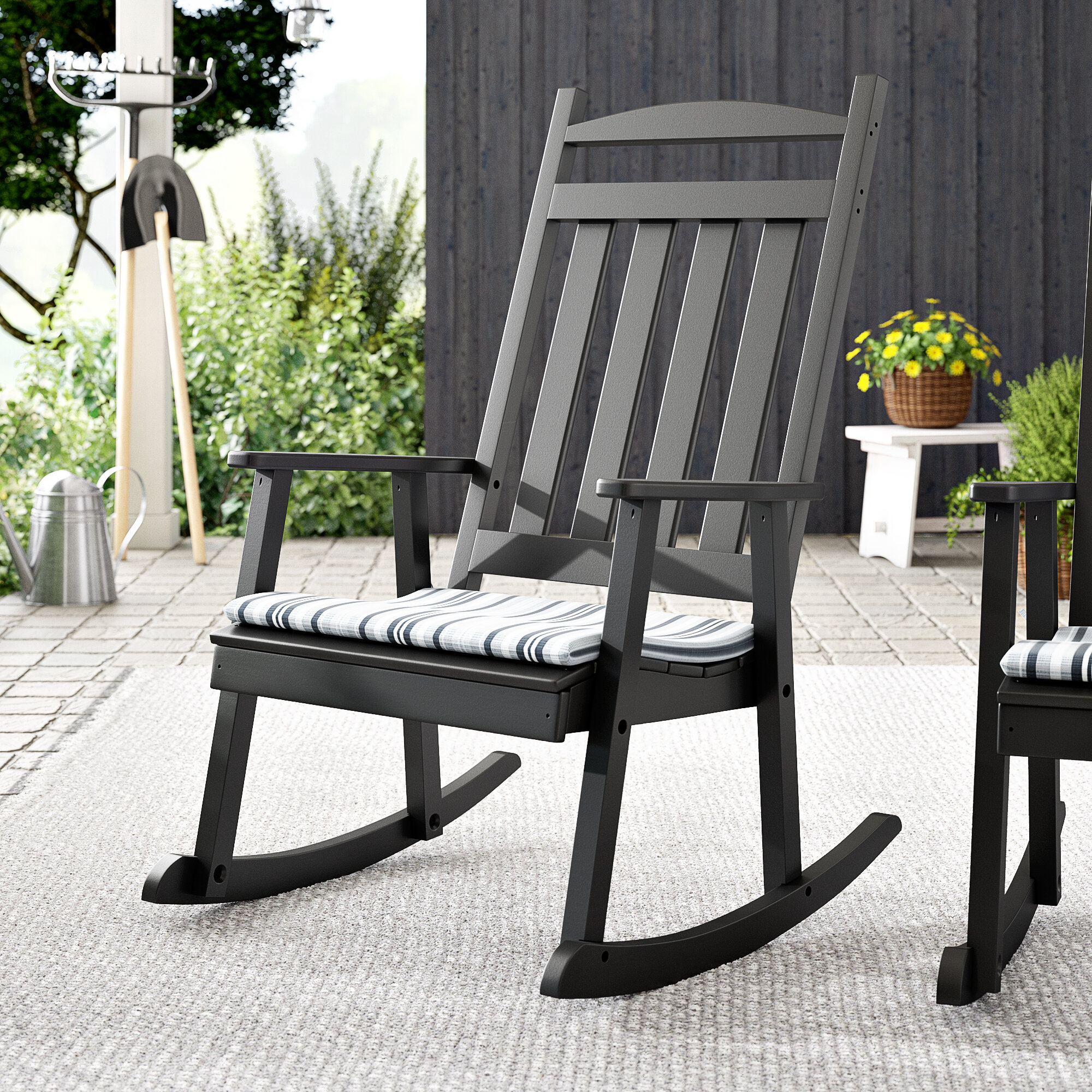 Laurel Foundry Modern Farmhouse Gastonville Classic Porch Rocking Chair U0026  Reviews | Wayfair