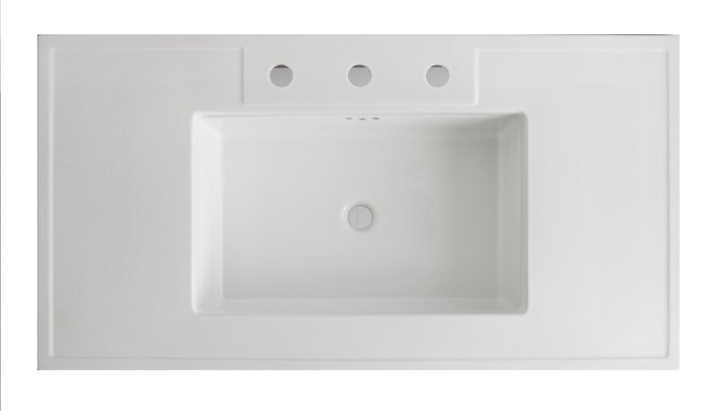 "Kathryn® Ceramic 42"" Console Bathroom Sink with Overflow"