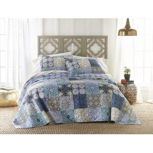 Pinecrest 100% Cotton 3 Piece Reversible Quilt Set