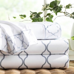 Wayfair Basics Embroidered Trellis 6 Piece Sheet Set