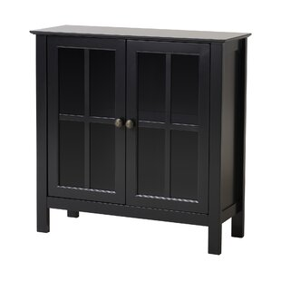 OS Home & Office Furniture Glass 2 Door Accent Cabinet