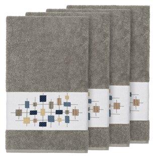 Hayek Embellished Turkish Cotton Bath Towel (Set of 4)