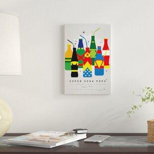 'Super Soda Pops XXVI' Graphic Art Print on Canvas ByEast Urban Home
