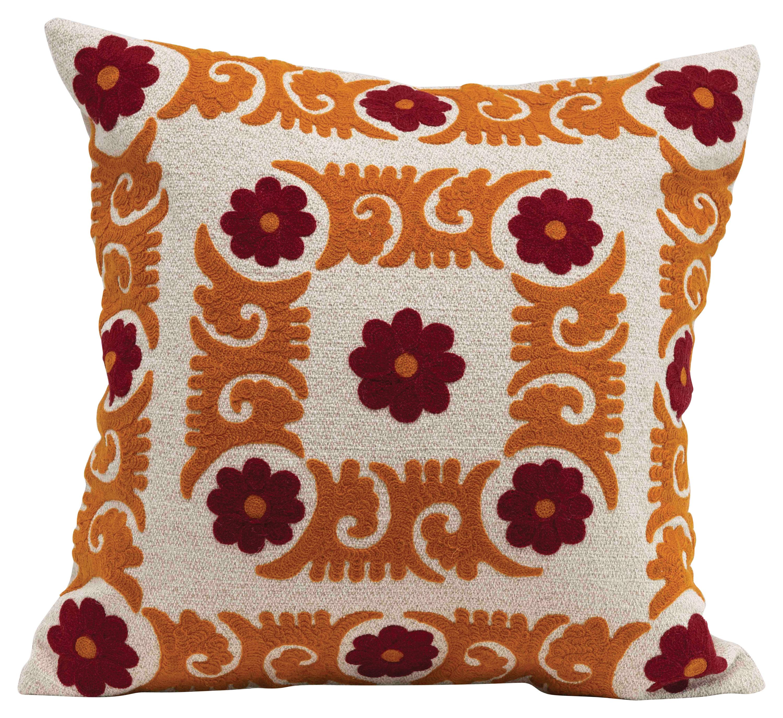 Brooker Cotton Floral Throw Pillow Birch Lane