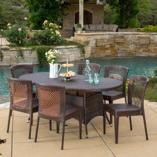 Holcomb 7 Piece Dining Set By Bayou Breeze