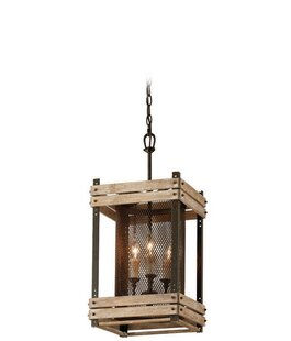 Union Rustic Gloska 3-Light Square/Rectangle Pendant