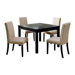 Vreeland Wooden 5 Piece Counter Height Dining Table Set