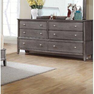 Tanya 6 Drawer Double Dresser ByGracie Oaks