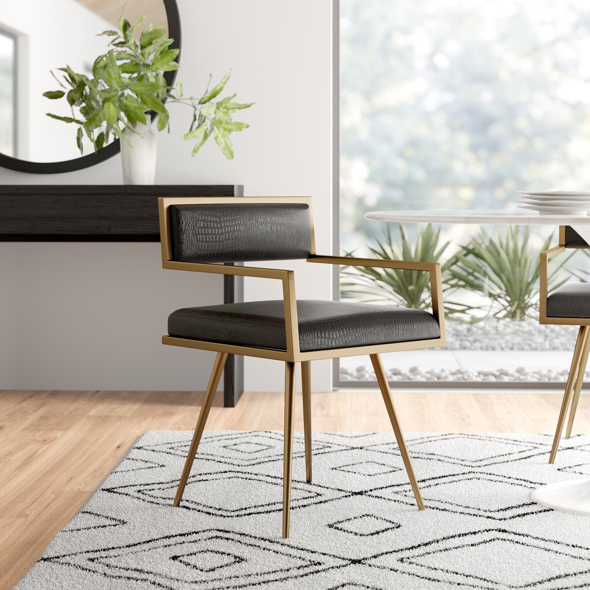 Como Upholstered Dining Chair Reviews Allmodern