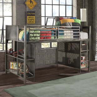 Kacey Twin Low Loft Bed with Shelves