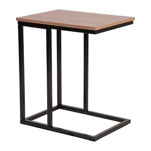 Lauretta Wood Grain Finish End Table by Ebern Designs