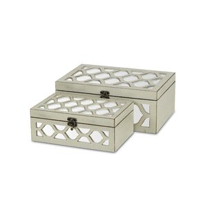 Strict Set Of 2 Stylish Art Deco Mirrored Glass Jewellery Boxes Periods & Styles Jewelry Boxes
