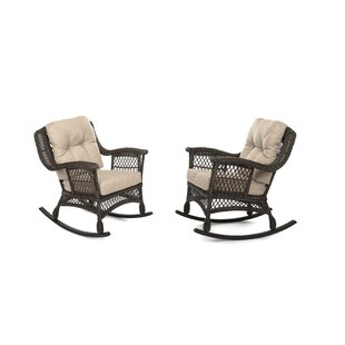 Rubino Garden Rocking Patio Chair with Cushions (Set of 2)