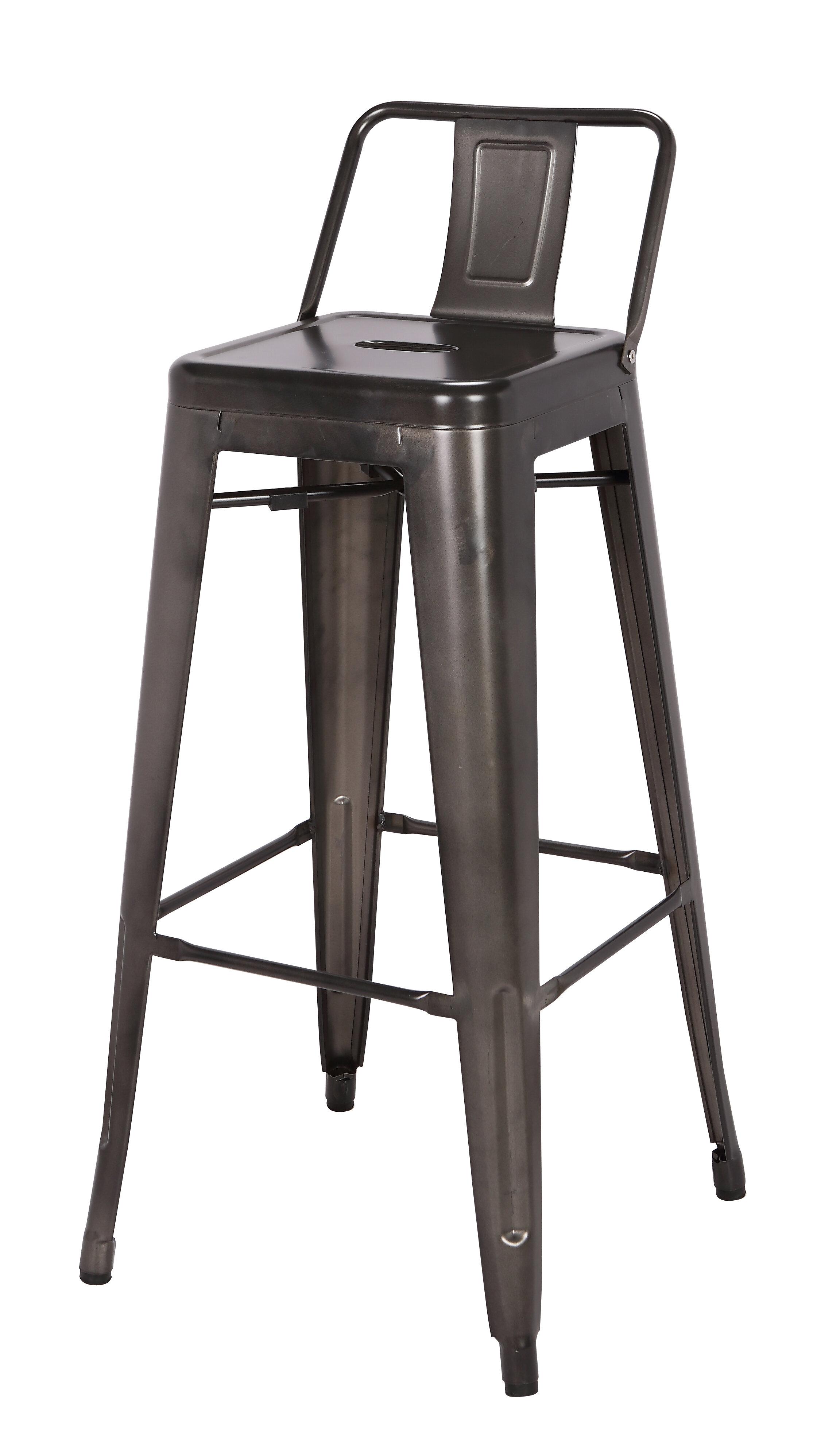Terrific Syrna Metal Low Back 30 Bar Stool Machost Co Dining Chair Design Ideas Machostcouk