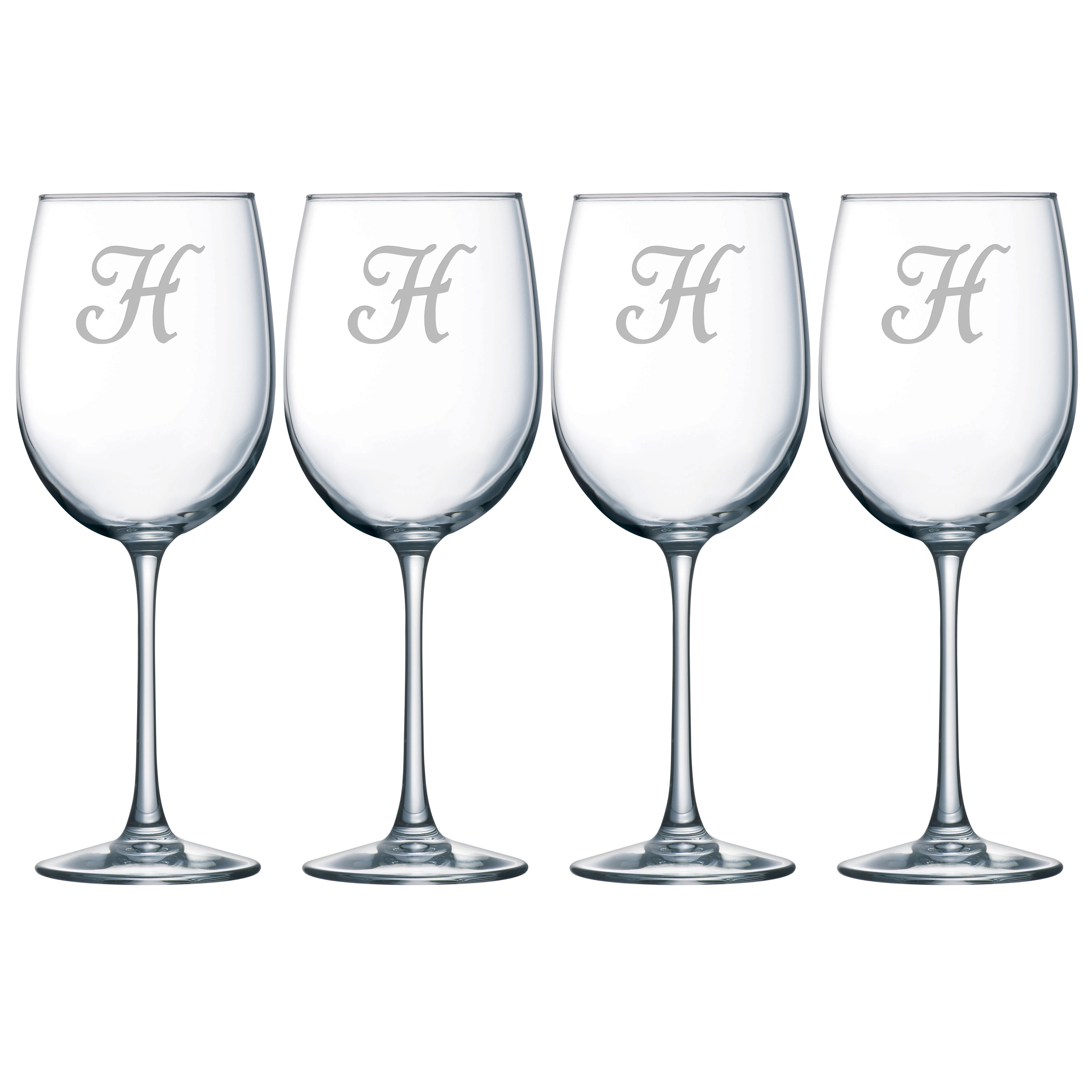 cd694794a3d Susquehanna Glass Monogram 19 oz. All Purpose Wine Glass & Reviews   Wayfair