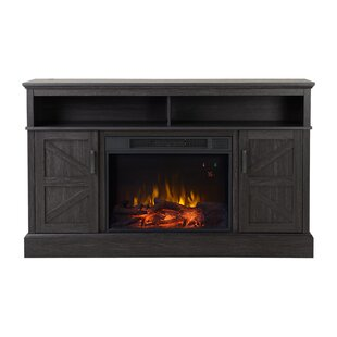 Albus Media Electric Fireplace TV Stand Millwood Pines