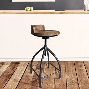 Blount Adjustable Height Swivel Bar Stool by Williston Forge