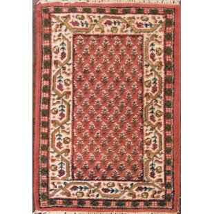 Compare Iggy Botemir Persian Hand-Knotted Wool Red/Black Area Rug ByBloomsbury Market