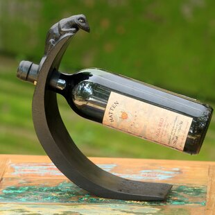 Hand-Crafted Wood 1 Bottle Tabletop Wine ..
