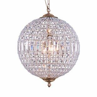 Franz 3-Light Crystal Chandelier by Astor..