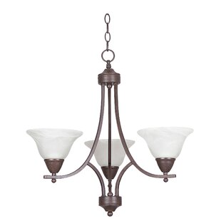 Sunset Lighting Metropolitan 3-Light Shaded Chandelier