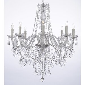 Anton 8-Light Crystal Chandelier