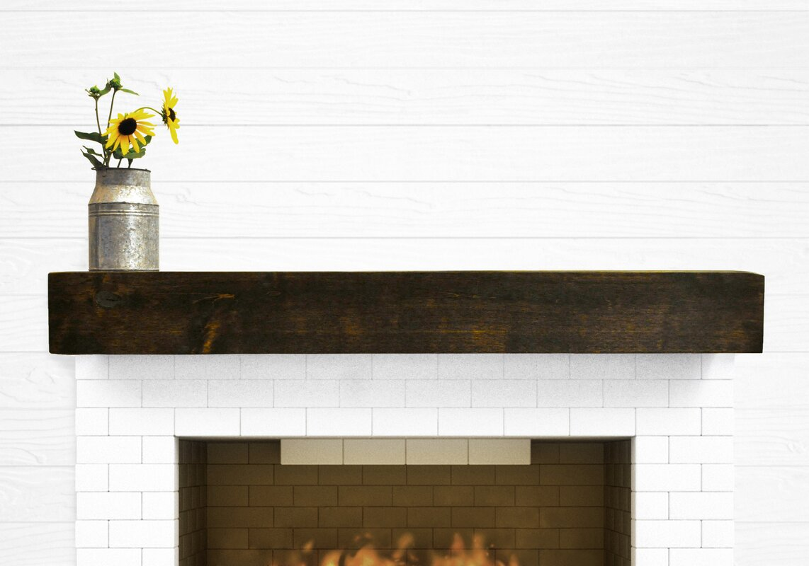 dogberry collections modern farmhouse fireplace mantel shelf