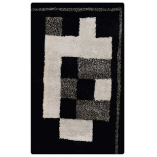 Reviews Marsily Shaggy Oriental Hand-Tufted Black/White/Gray Area Rug By Orren Ellis