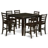 Krull 7 Piece Counter Height Dining Set by Red Barrel Studio®
