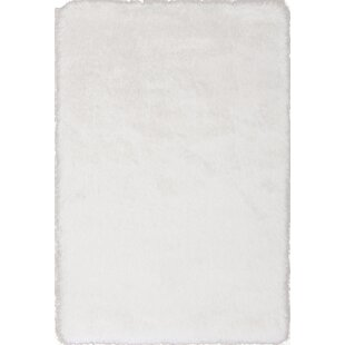 Top Reviews Somerville Hand-Tufted White Area Rug By House of Hampton