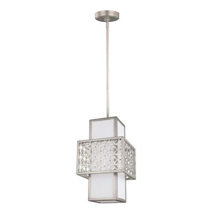 Permenter 1-Light Square/Rectangle Pendant by Bungalow Rose