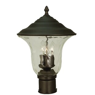 Gold Outdoor 3-Light Lantern H..