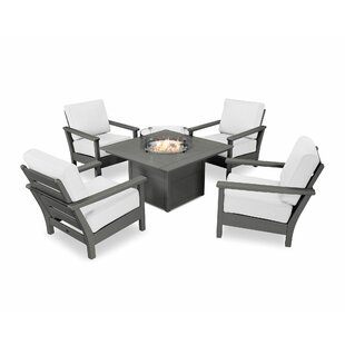 Harbour 5 Piece Sunbrella Complete Patio Set