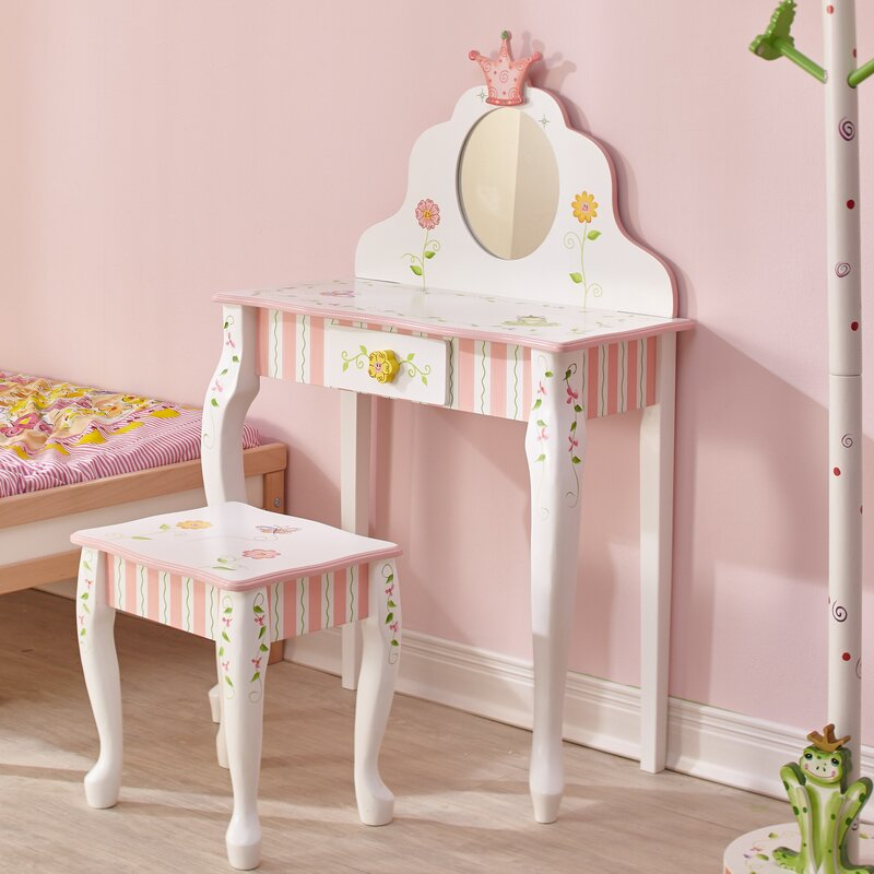 Fantasy Fields Princess & Frog Vanity Set with Mirror & Reviews ...