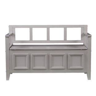 Charlton Home Humbert Wood Storage Bench