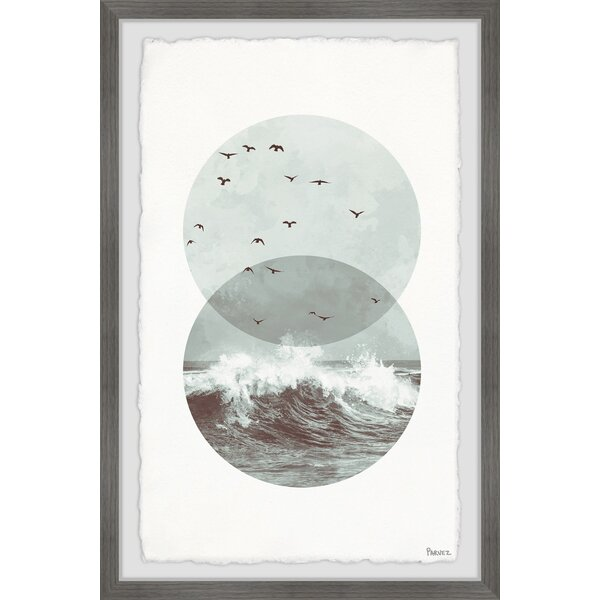 Wrought Studio Shaded Waves By Parvez Taj Picture Frame Photograph Print On Paper Wayfair