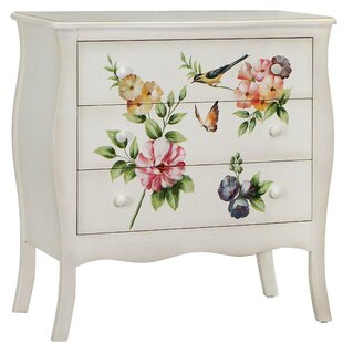 Sanger Hand-Painted 3 Drawer Accent Cabinet