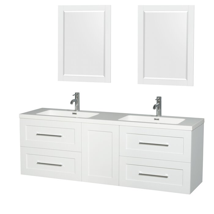 white bathroom vanities with drawers. Olivia 72\ White Bathroom Vanities With Drawers